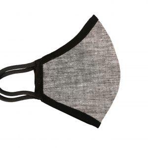 Hemp Face Mask - Dark Grey